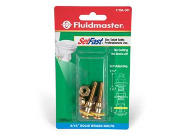Fluidmaster SetFast Toilet Bolts and Smart Cap Universal Toilet Bowl Caps