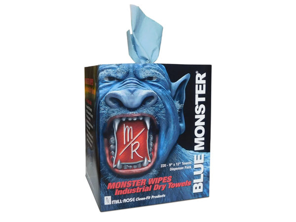 Blue Monster MONSTER WIPES from Clean-Fit Products, a Division of The Mill-Rose Co.
