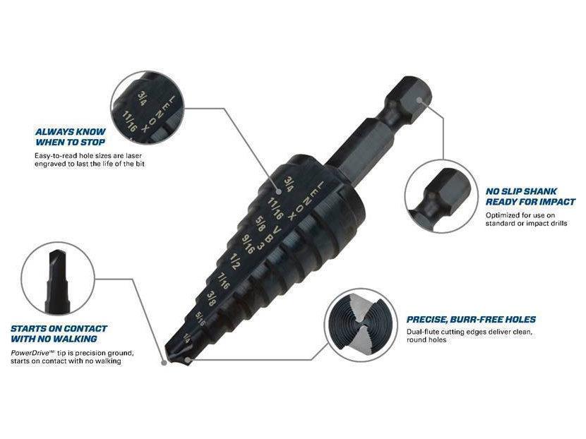 LENOX VARI-BIT Step Drill Bits