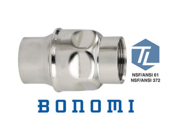 3 Bonomi S250 Series Stainless Steel In-Line Check Valves