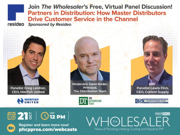 Resideo to Sponsor The Wholesaler's Master Distribution Panel Discussion