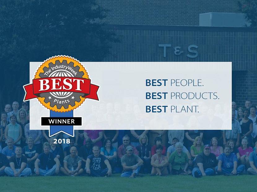 T&S Brass Wins 2018 IndustryWeek Best Plants Award