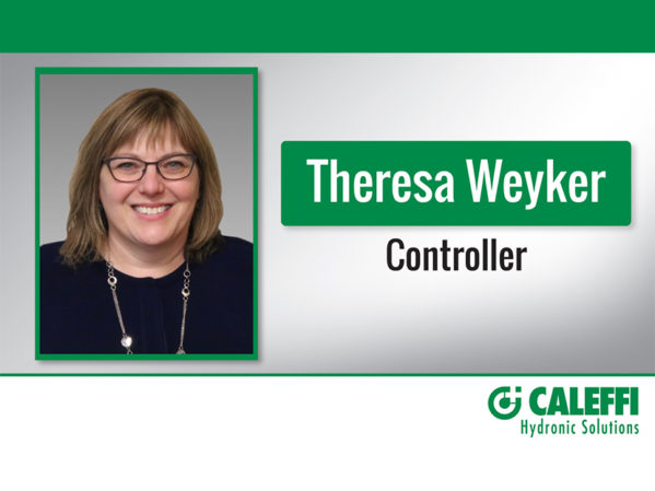 Caleffi Appoints Theresa Weyker as New Controller