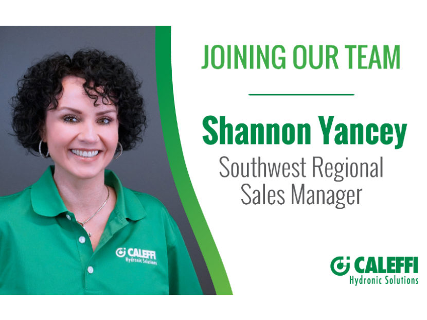 Caleffi Names Shannon Yancey New Southwest Sales Manager